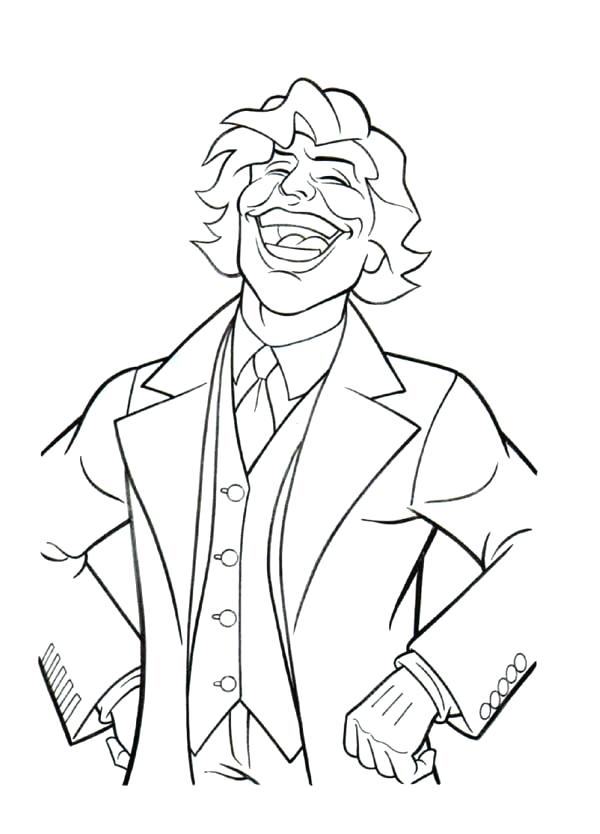 600x834 The Joker Coloring Pages Joker Laughing Coloring Page Joker