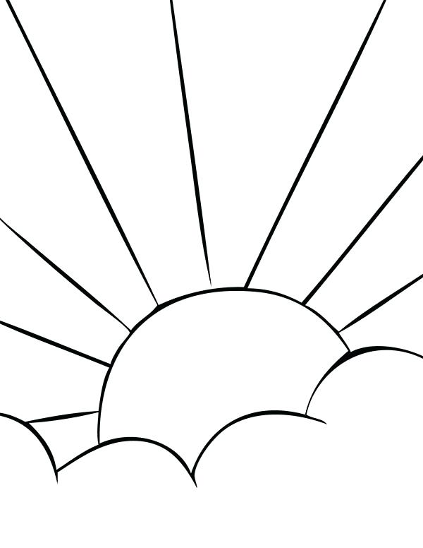 600x776 Sun Picture To Color Sun Coloring Pages Free Printable Sunrise