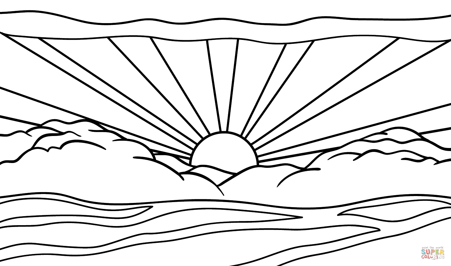 1500x886 Sunrise Coloring Pages
