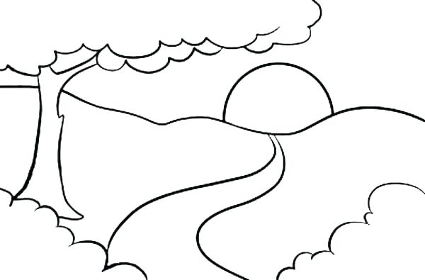 600x395 Sunrise On Top Of Mountain Landscapes Coloring Pages Bulk Color