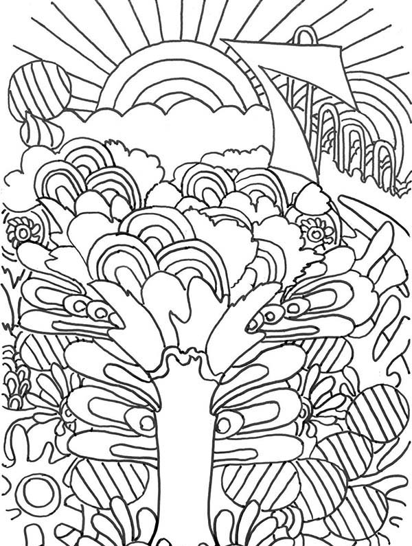 600x795 Sunrise Trippy Coloring Pages Batch Coloring