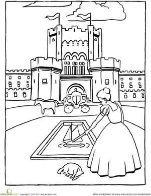 301x389 Castle Front Coloring Pages
