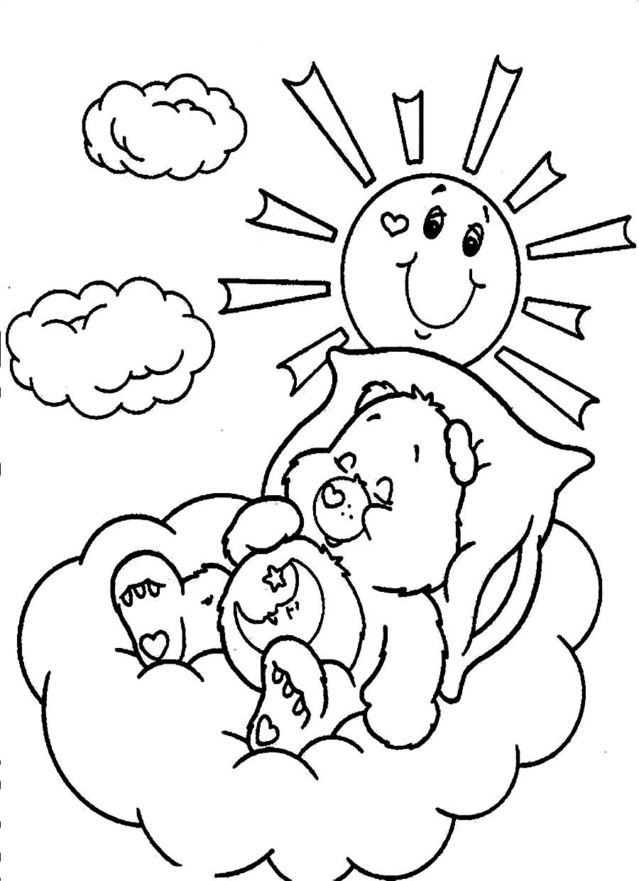 900x1240 Care Bears Coloring Pages