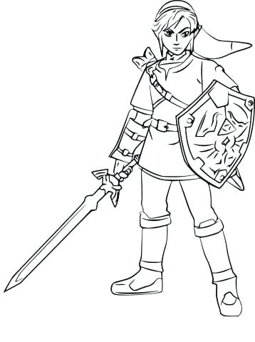 358x480 Master Sword Coloring Pages Library O Half Sleeve Legend Of Master