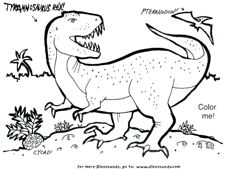 960x720 Tyrannosaurus Rex Coloring Pages T Coloring Page Good T Coloring