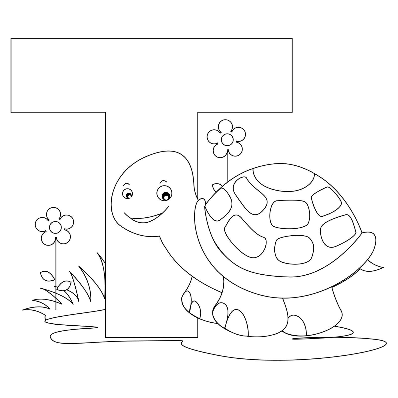 1600x1600 Letter T Coloring Page