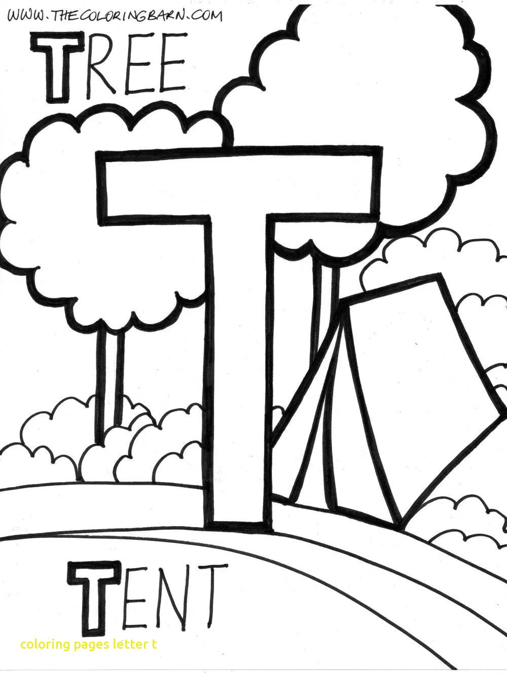 1000x1329 Coloring Pages Of The Letter T