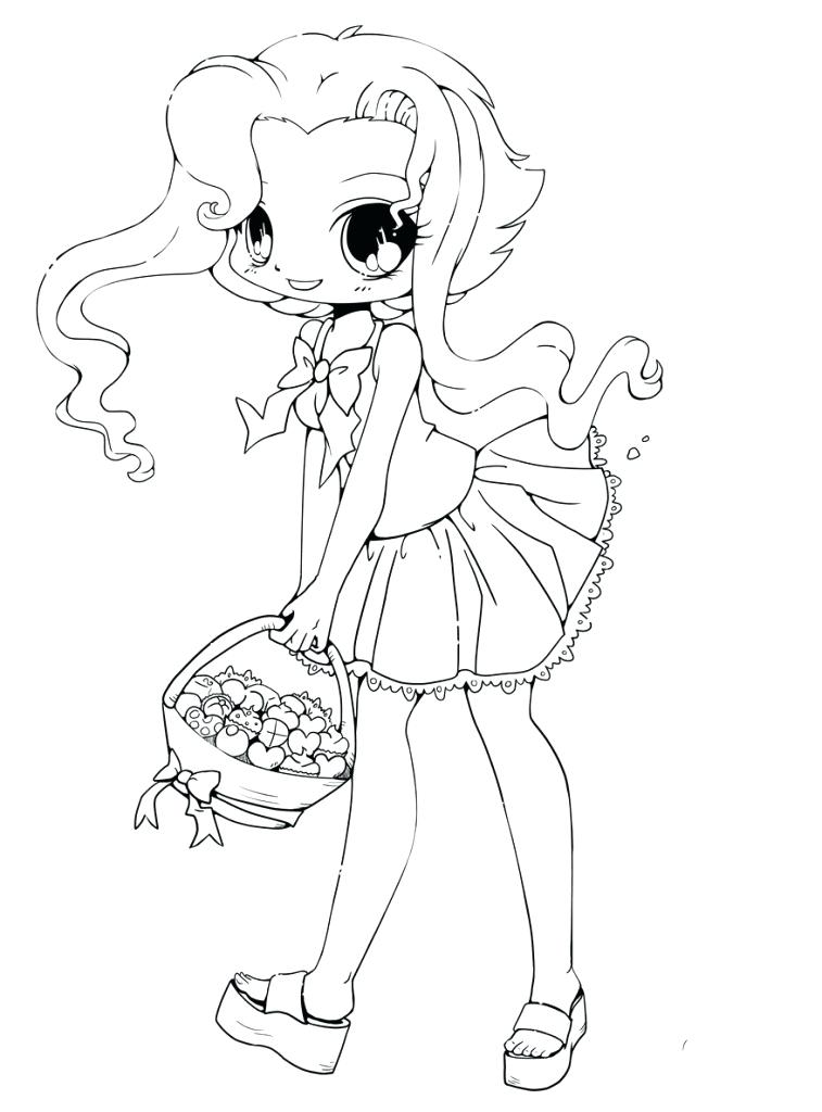 757x1024 Anime Coloring Pages Chibi Cute Anime Chibi Girl Coloring Pages