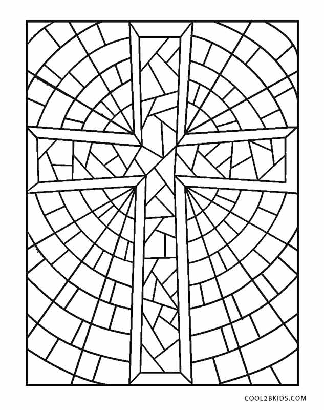 633x800 Stained Glass Cross Coloring Page Modern Stained Glass Cross
