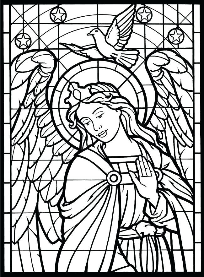 650x882 Stained Glass Window Coloring Pages Stained Glass Window Coloring