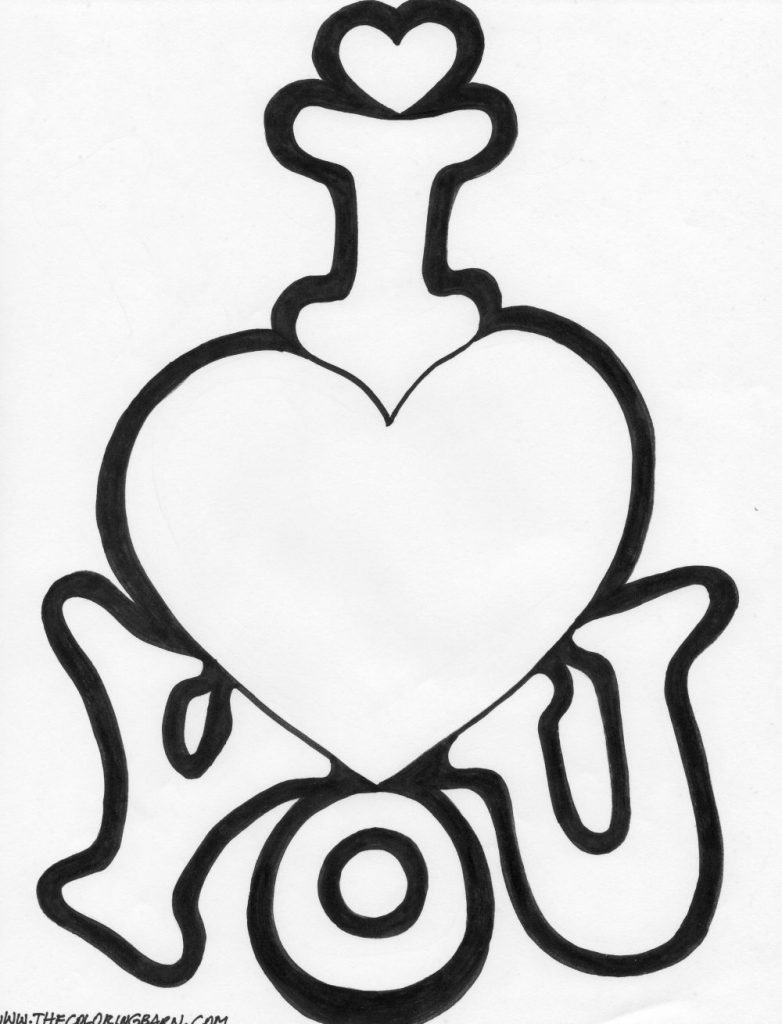 782x1024 Coloring Pages That Say I Love You