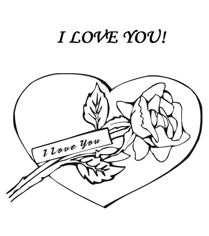 685x774 I Love You Coloring Pages