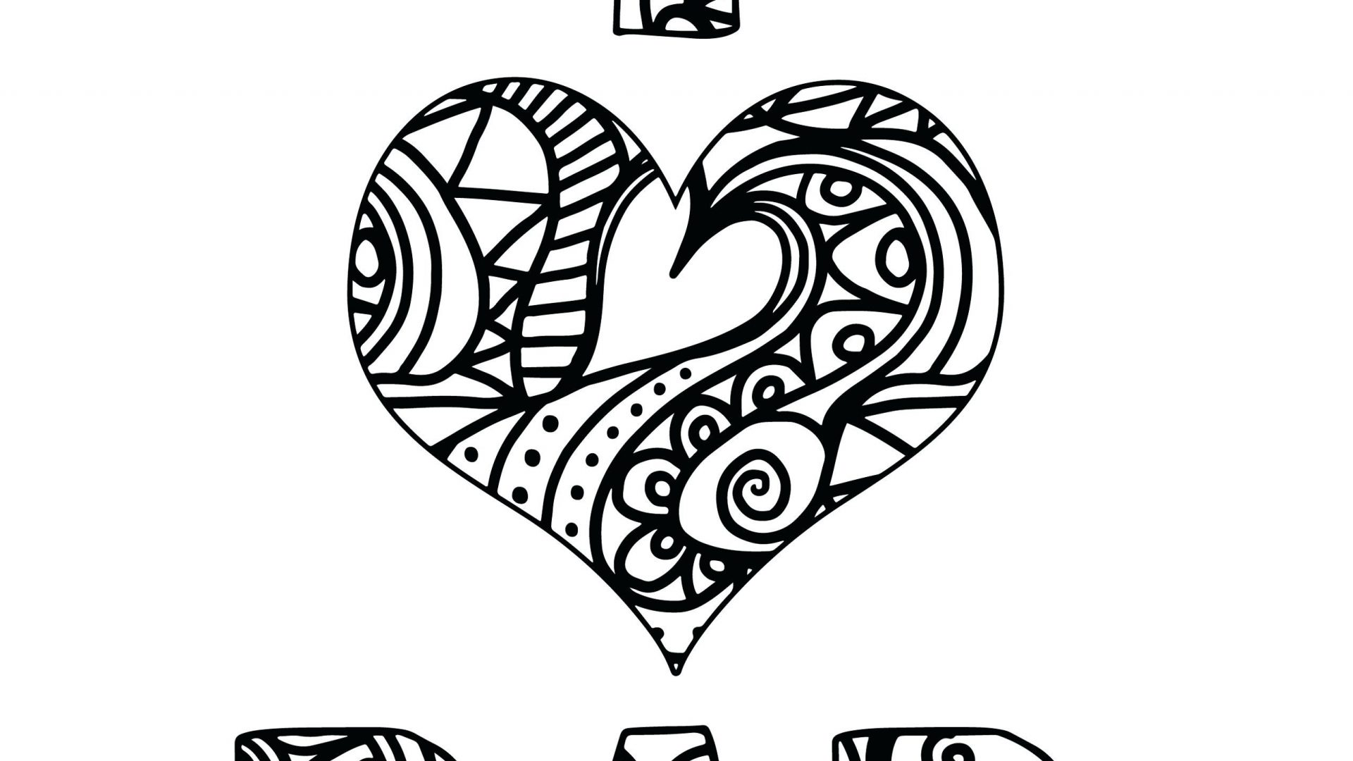 1920x1080 I Love You Coloring Pages Mommy And Daddy Free We Mom Dad For Kids