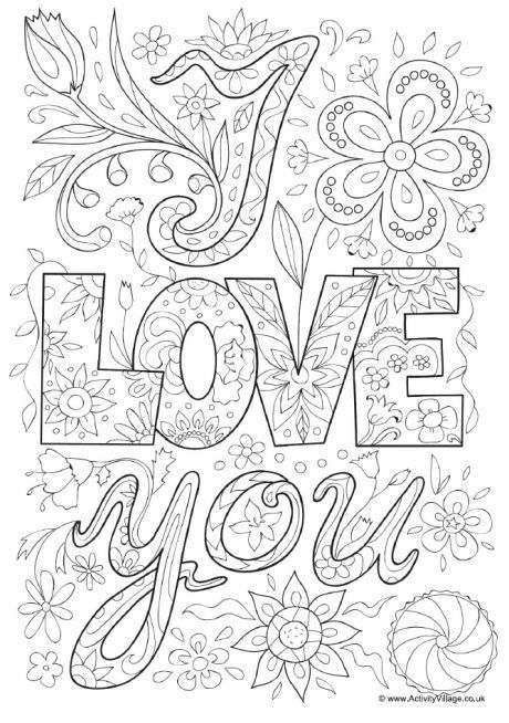 460x654 I Love You Coloring Pages For Adults Explore Colouring Pages