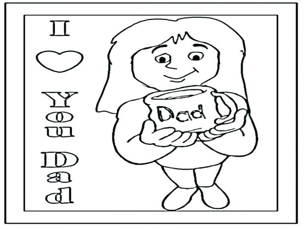 618x464 I Love You Dad Coloring Pages I Love Dad Coloring Pages Coloring
