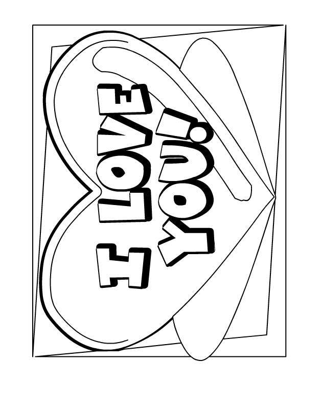 628x796 Coloring Pages That Say I Love You