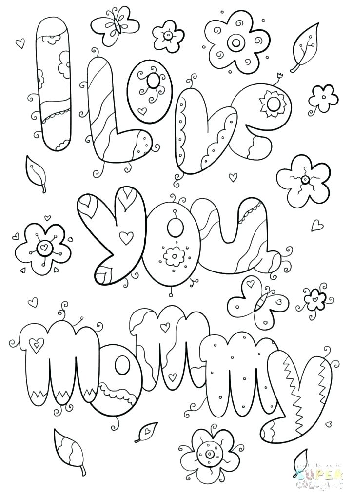 724x1024 Coloring Pages I Love You