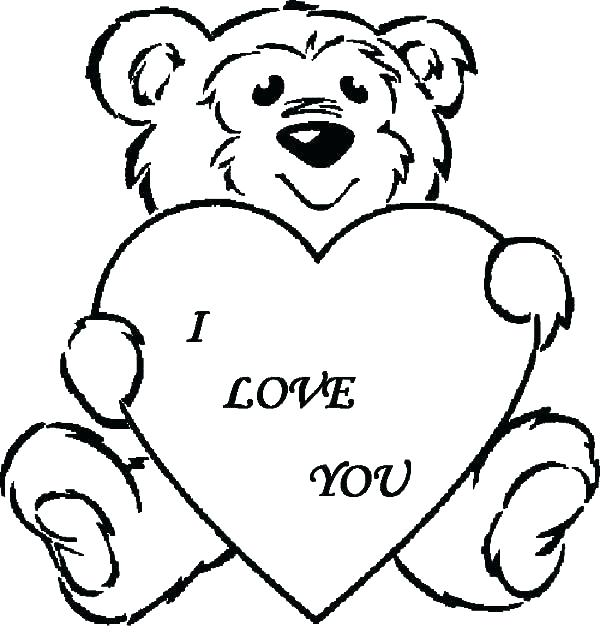 600x632 Coloring Pages That Say I Love You Coloring Pages That Say I Love