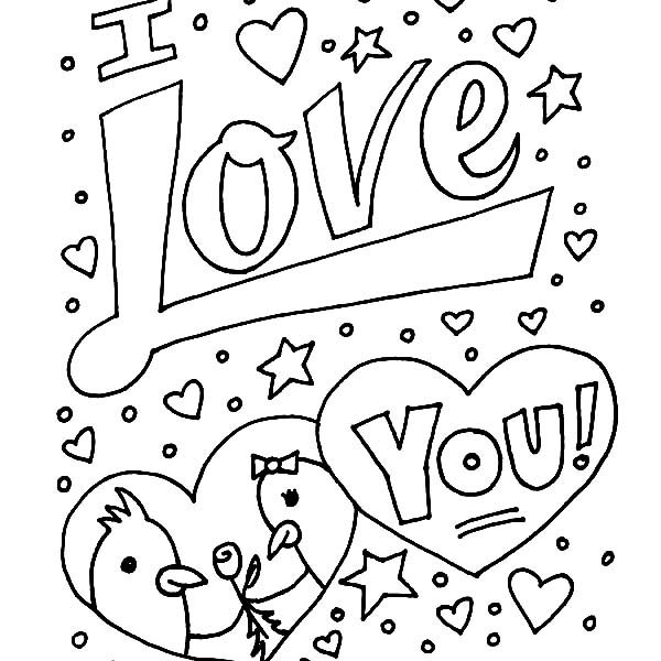 600x600 Coloring Pages That Say I Love You I Love You Coloring Pages