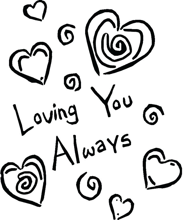 750x899 Coloring Pages That Say I Love You Love You Coloring Pages
