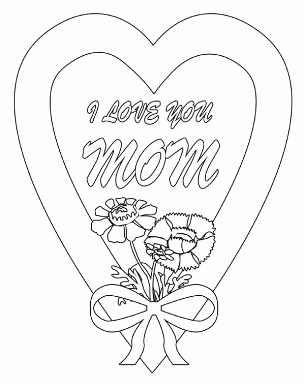 600x757 Cool Coloring Sheets Love You Mom Coloring Pages I Love You Mommy