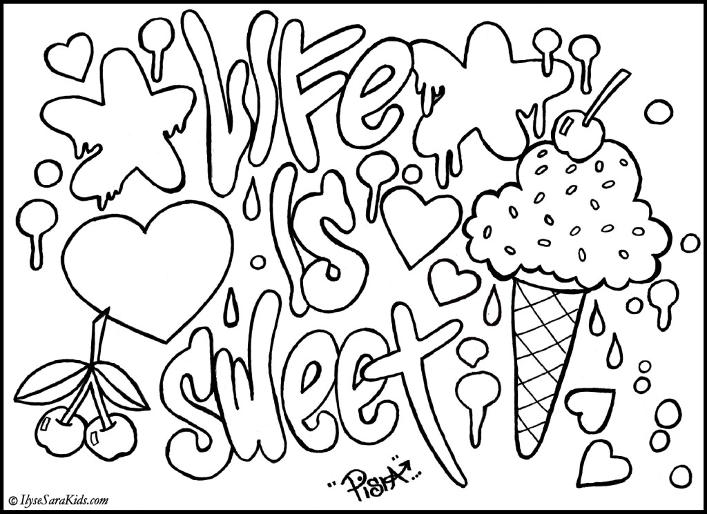 Kleurplaten Love Graffiti.Coloring Pages That You Can Print At Getdrawings Com Free For