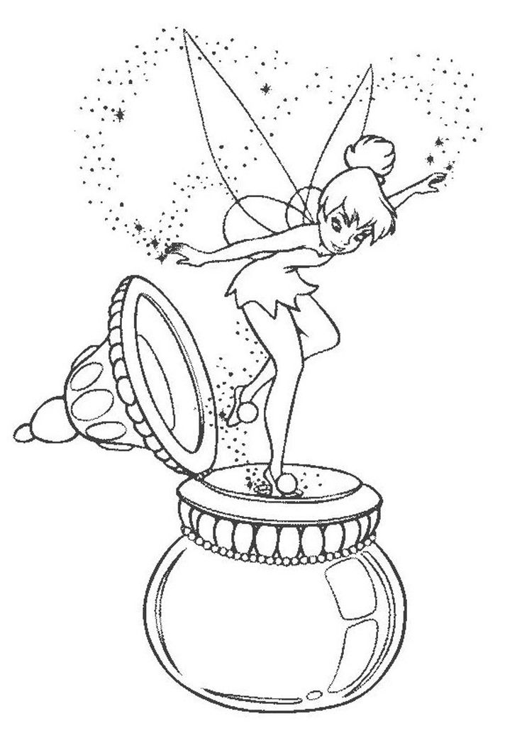 Coloring Pages Tinkerbelle
