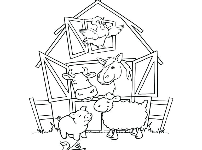773x576 Farm Color Pages Farm Animal Coloring Page Color Online Free Farm