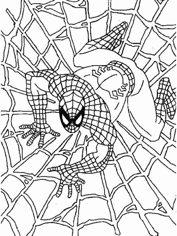 718x959 Free Printable Spiderman Coloring Pages For Kids