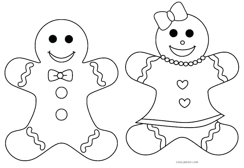 850x584 Gingerbread Man Color Page Gingerbread Man Coloring Pages Online