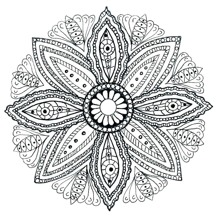 736x729 Mandala Coloring Pages Online Free Mandala Coloring Pages Easy