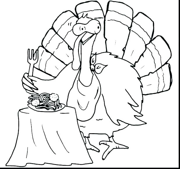 618x581 Thanksgiving Coloring Pages Online Free Printable Turkey No Page