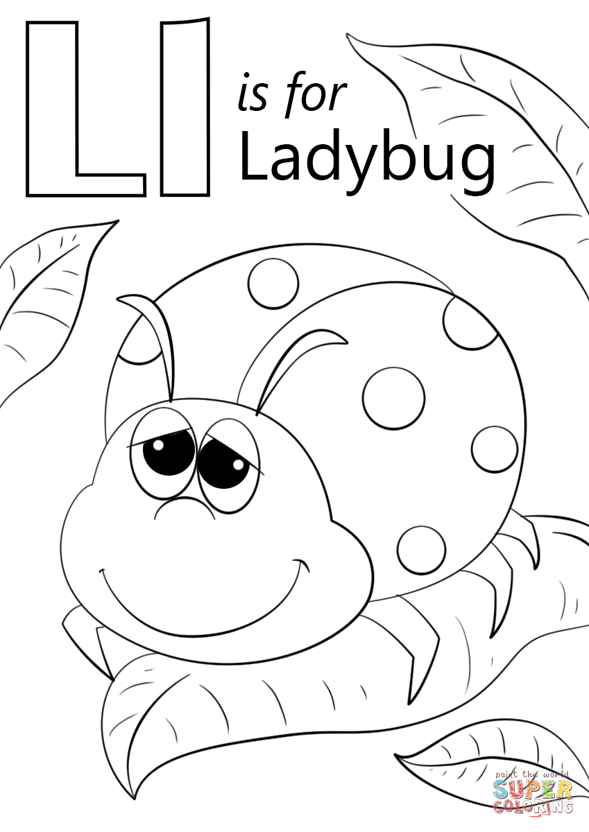 849x1200 Letter L Is For Ladybug Coloring Page Free Printable Coloring