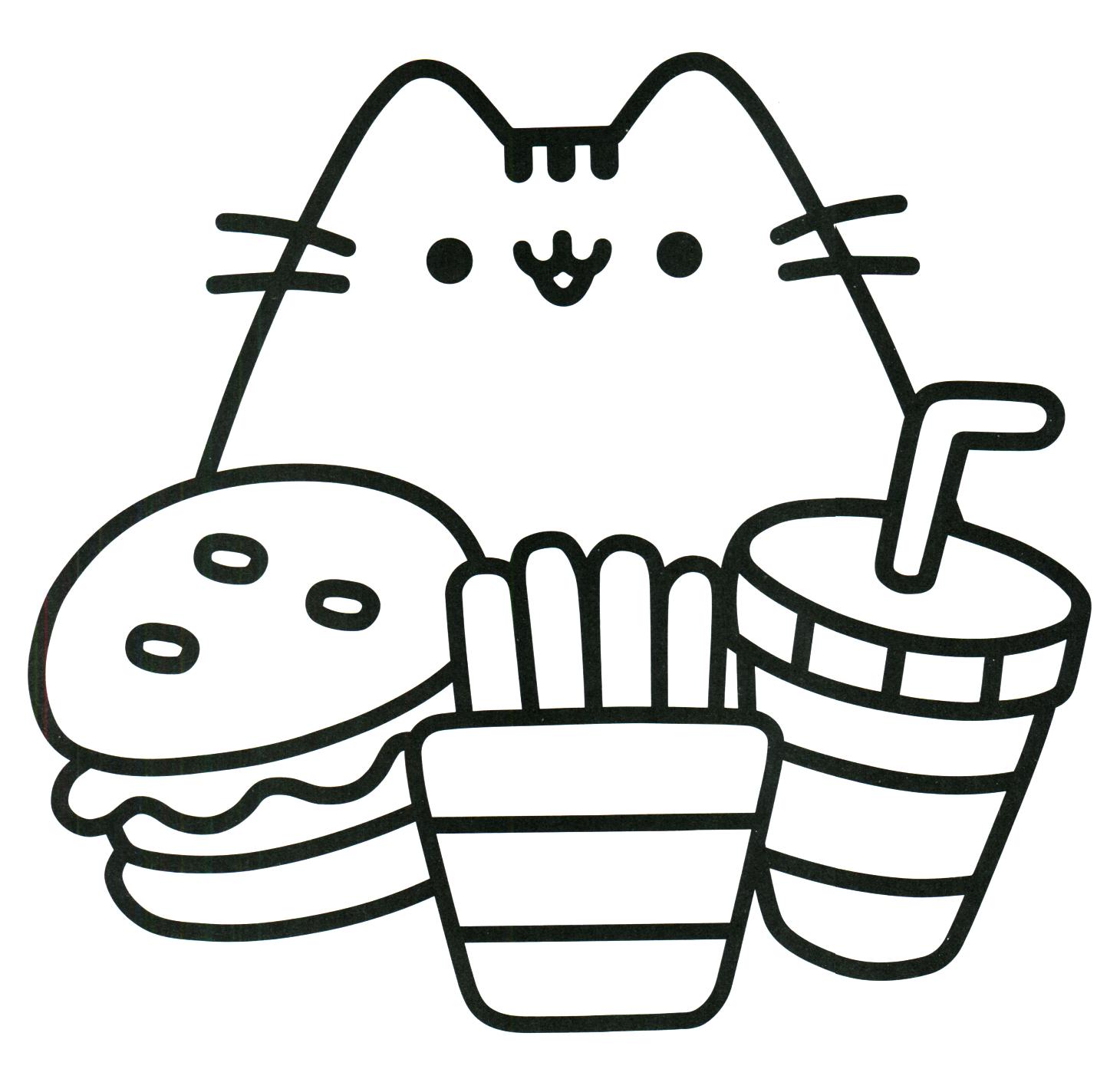 1430x1424 Pusheen Coloring Book Pusheen Pusheen The Cat Pusheen Coloring