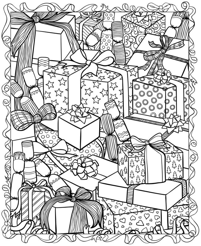 650x793 Printable Christmas Coloring Pages For Adults