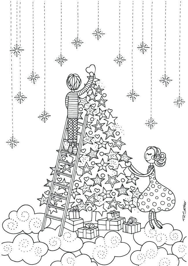650x919 Christmas Printables Coloring Pages