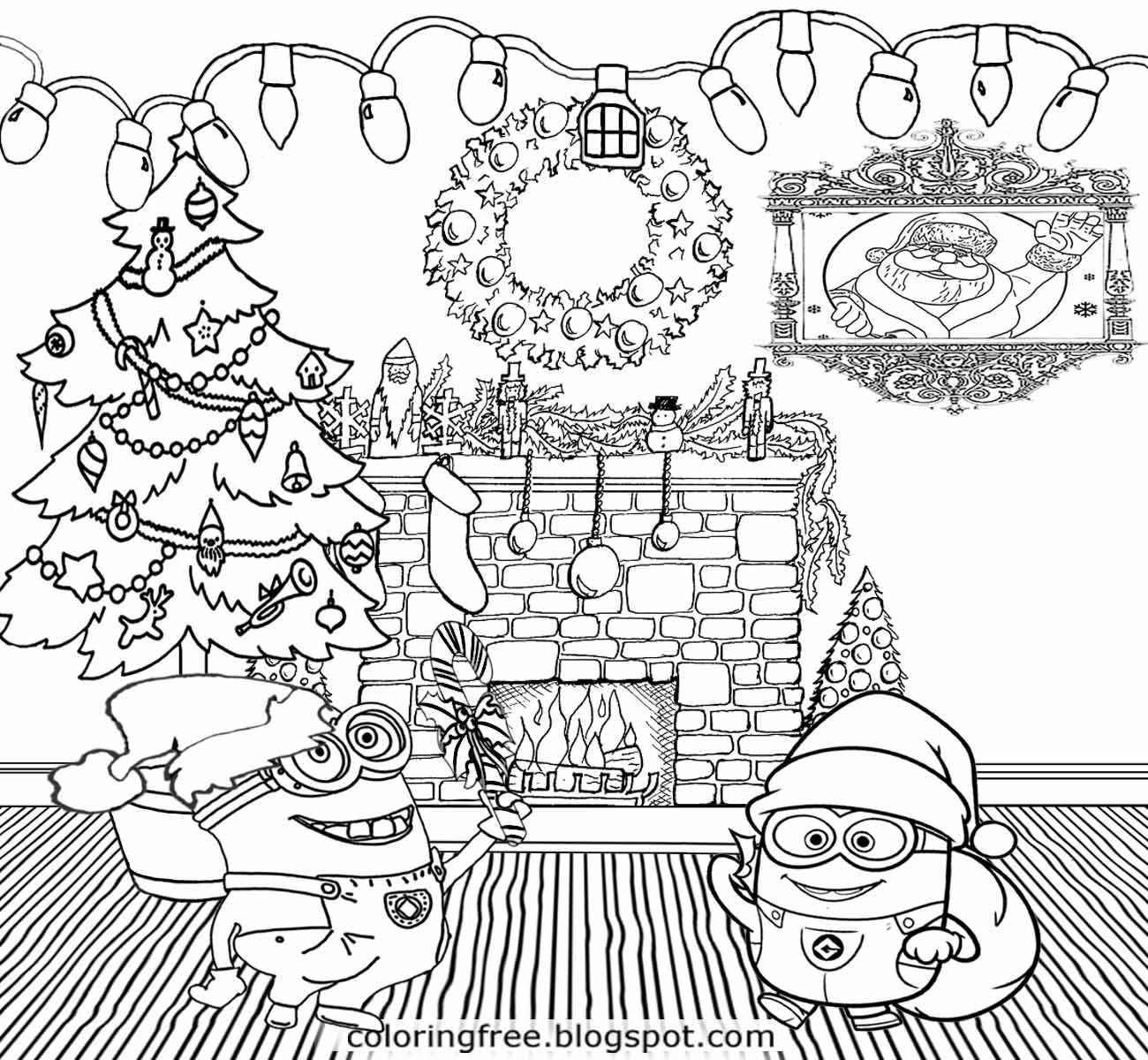 1300x1200 Christmas Coloring Page