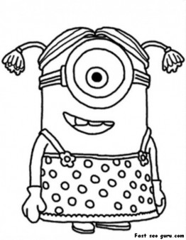 262x338 Printable Disney Minions Coloring Page For Kids