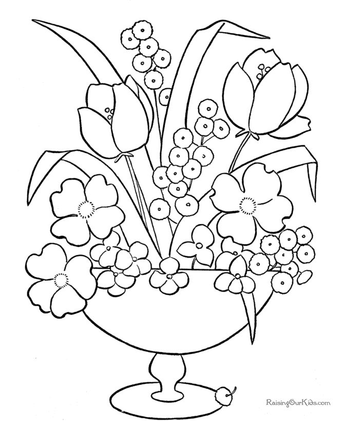 Coloring Pages To Print Flowers