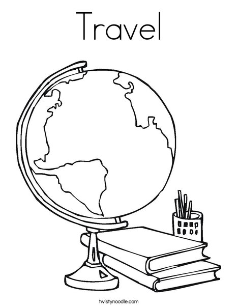468x605 Travel Coloring Page