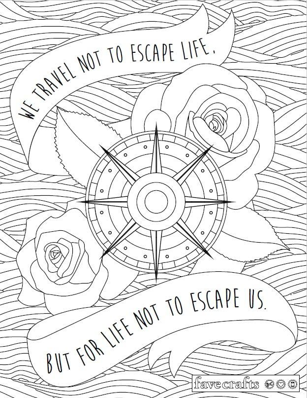 624x807 Travel Escape Adult Coloring Page Adult Coloring, Coloring Books