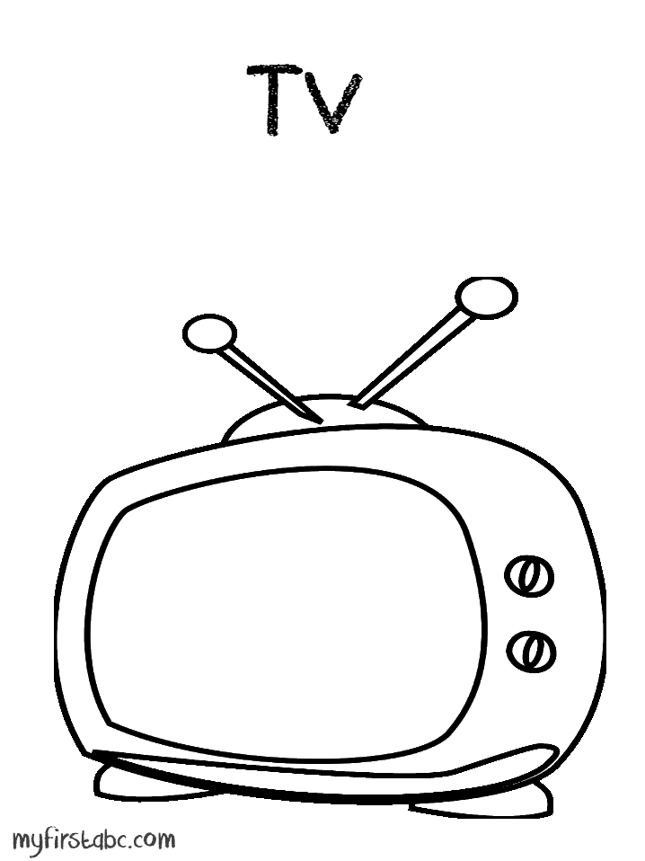 Coloring Pages Tv At Getdrawings Com Free For Personal Use