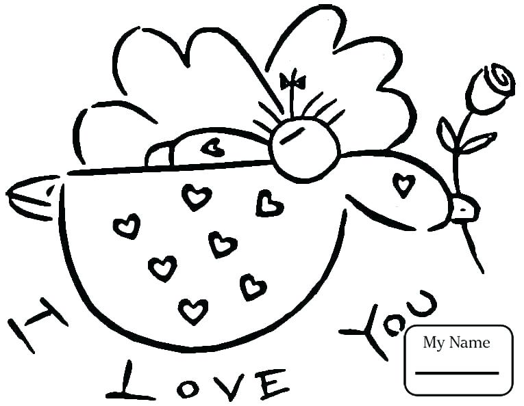 Coloring Pages Valentines Day Cards