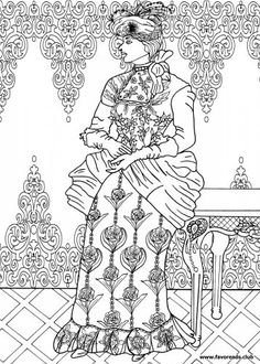 236x330 The Best Free Adult Coloring Book Pages Victorian Era, Adult