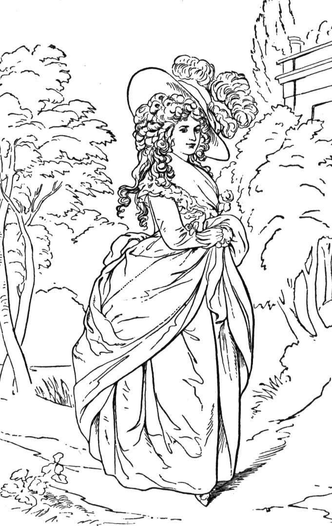 681x1077 Victorian Coloring Pages Beauteous Victorian Woman Coloring Pages