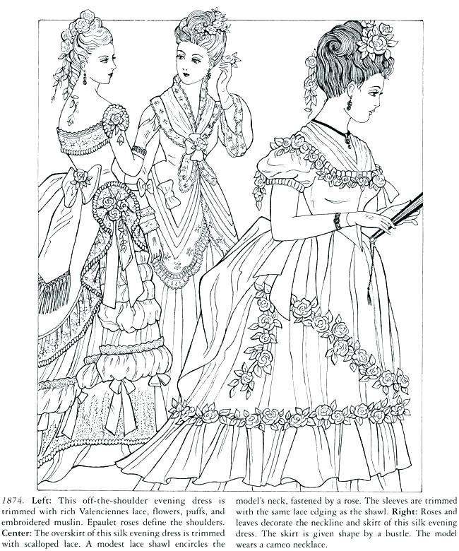 650x780 Victorian Coloring Pages Coloring Pages Coloring Pages Fashion