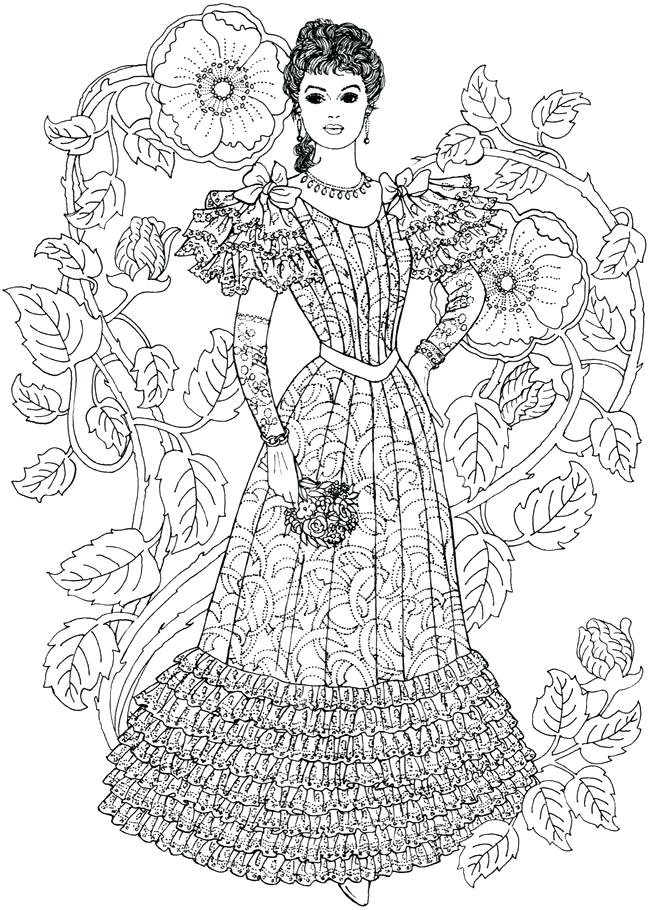 650x910 Victorian Coloring Pages Free Printable Fashion Coloring Pages