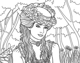 340x270 Best Victorian Coloring Pages Images On Coloring
