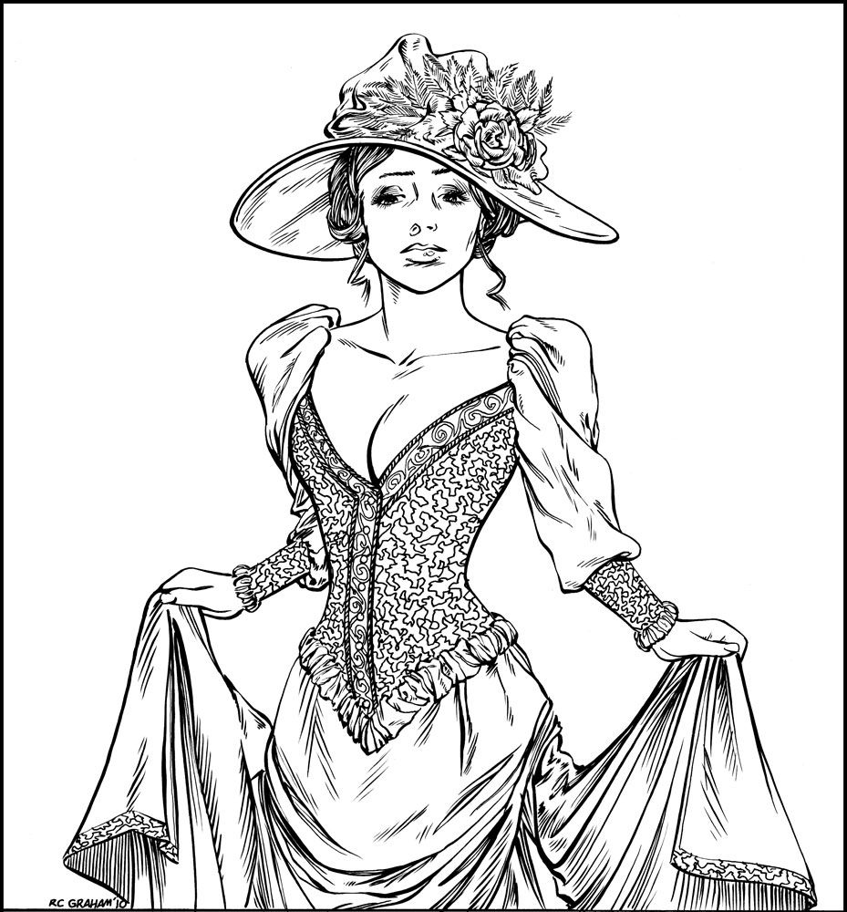 929x1000 Victorian Era Coloring Pages Victorian