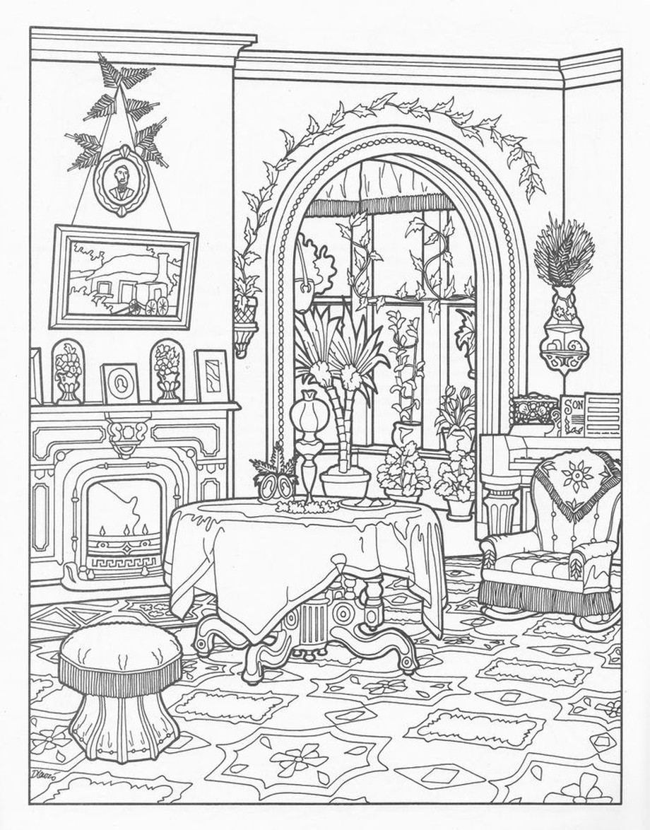 920x1174 Victorian House Coloring Pages For Grown Ups Also Houses Book Acpra
